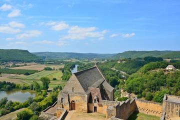 campagne du périgord depuis le château de Beynac