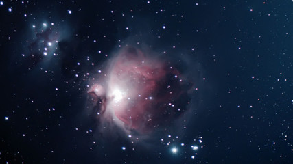 Orion Nebula Night sky The Orion Nebula is a diffuse nebula situated in the Milky Way south of Orion's Belt in the constellation of Orion
