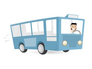 bus busfahrer cartoon verkehr männchen