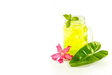 refreshing summer drinks in jar