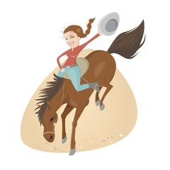 rodeo pferd reiten cowboy