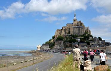 View on Le Mont Saint Michel, France