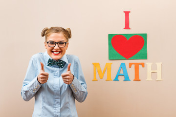 Thumbs up for math!