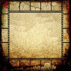 Grunge sepia film strip frame