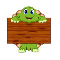 Turtle with wood board