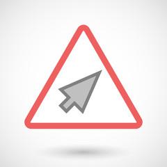 Warning signal with a cursor