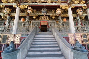 Khoo Kongsi, Chinese Clan House and temple at George town, the UNESCO world heritage site, Penang, Malaysia.