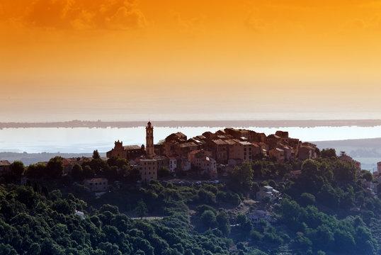Borgo et étang de Biguglia