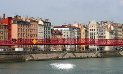 Lyon - passerelle Saint Georges