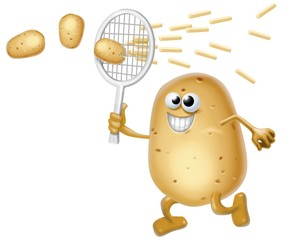 Fototapete - patata tennista