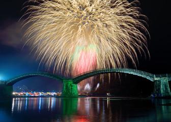 錦帯橋の花火大会