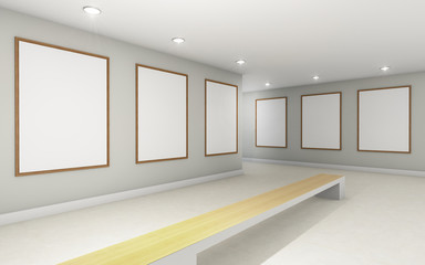 Art Gallery perspective two point and Picture Frame wall monocom