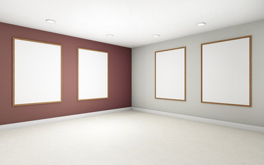 Art Gallery Perspective 2 pont and Picture Frame wall monocom color Rad