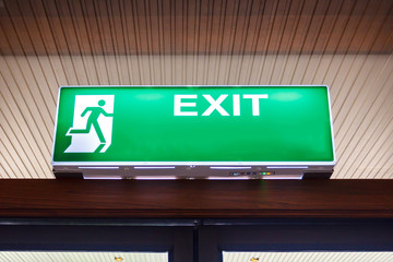 Wall Mural - Fire exit light sign