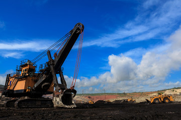 Electric Shovel in Open Pit