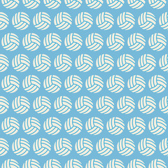 Flat Vector Seamless Sport and Recreation Volleyball Pattern