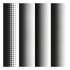 Halftone dots pattern gradient in vector format