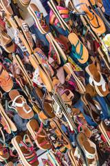 Morocco shop selling leather footwear