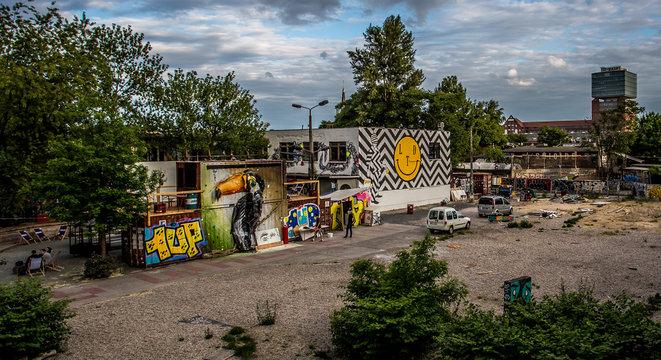 Graffiti: Container in Berlin