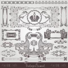 old royal label banner element.