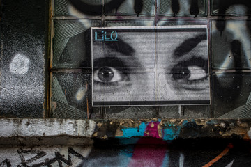 Graffiti in Berlin: der Blick