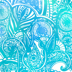 Abstract vector blue background with watercolor texture