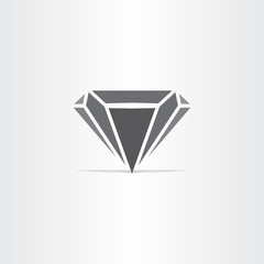 black diamond stylized icon