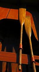 Vintage Wooden Boat Sun Paddles
