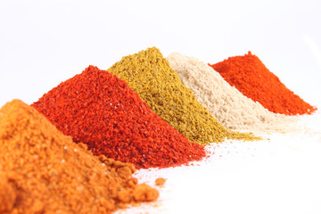 Spice mix on the white background