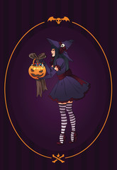 Halloween illustration.Witch