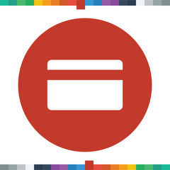 Flat credit card icon in a circle.