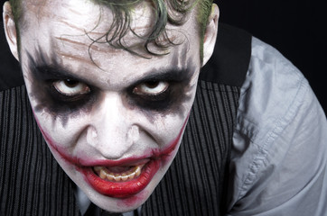 Dark creepy joker face