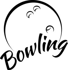 Bowling Ball with Fun Text