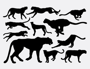 Cheetah wild animal silhouettes