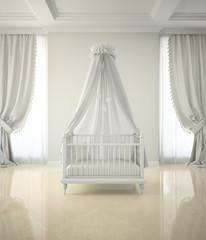 Part of classic interior the children's room 3D rendering