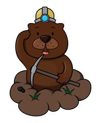 Groundhog cartoon illustration