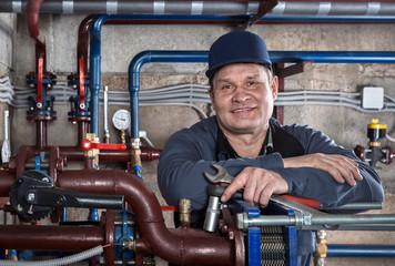 Portrait plumbing engineer.