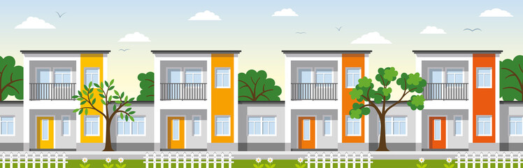 Modern Townhouses in the suburbs