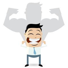 muskeln business stark mann erfolg