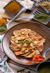 indian snack papri chaat