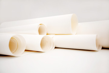 the rolls of paper, a roll of Wallpaper