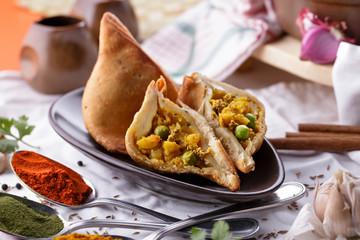 spicy indian samosa