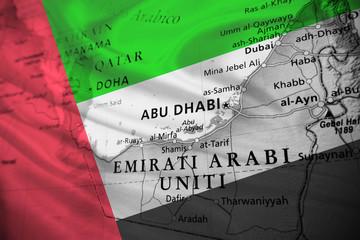 United Arab Emirates with national flag