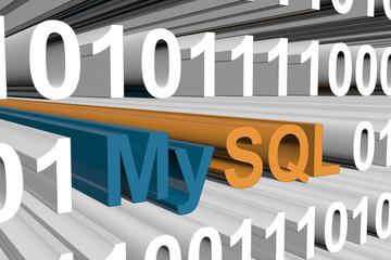 MySQL is presented in the form of binary code