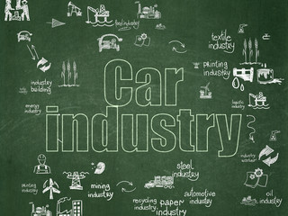 Manufacuring concept: Car Industry on School Board background