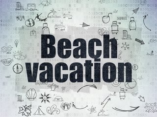 Travel concept: Beach Vacation on Digital Paper background