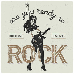 Hot rock star