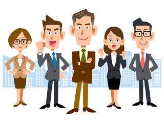 エグゼクティブを中心としたビジネスのチーム
