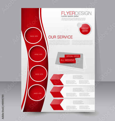 Flyer Template Business Brochure Editable A Poster For Design