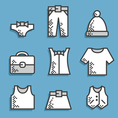 Set icons Dress code